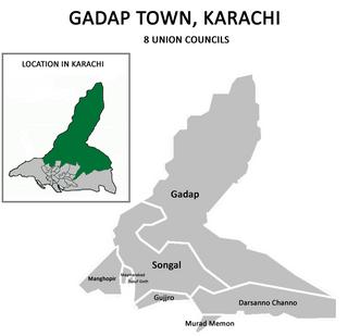 Gadap Town Municipality in Sindh, Pakistan
