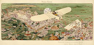 Jean Louis Conneau - Contemporary illustration of Conneau's victory in the Paris-Rome race