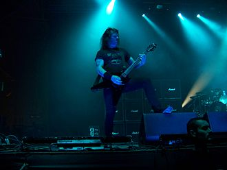 Gary Holt (musician) - Slayer and Megadeth. European Carnage Tour 2011.
