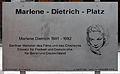Gedenktafel Marlene-Dietrich-Platz (Tierg) Marlene Dietrich.jpg