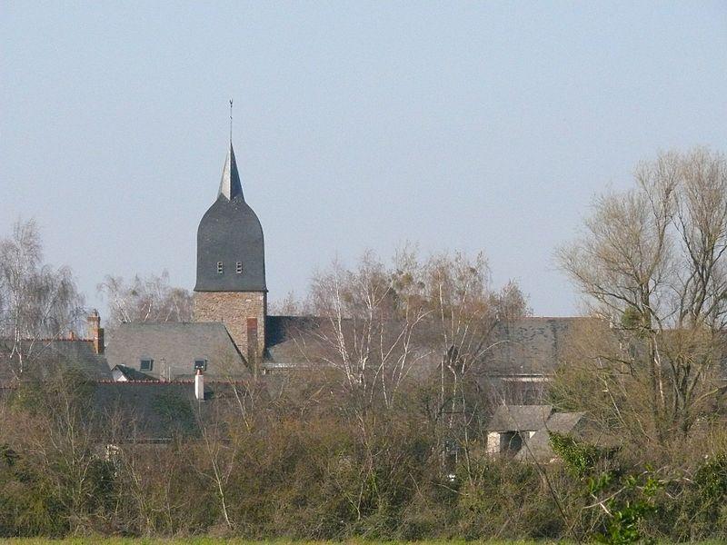 Saint-Peter-and-Paul' church of Gené (Maine-et-Loire, Pays de la Loire, France).