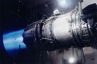 General Electric F110 - An F110 engine undergoes performance testing at the Air Force's Arnold Engineering Development Center.