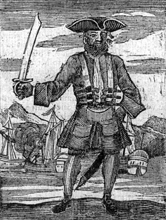 Blackbeard - Blackbeard the Pirate: this was published in the General History of the Pyrates, 1725.