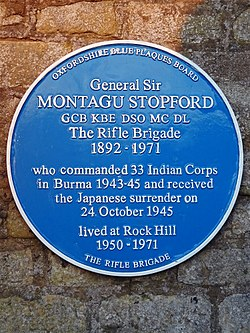 General sir montagu stopford gcb kbe dso mc dl the rifle brigade 1892 1971