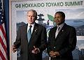 George W Bush and Jakaya Kikwete 20080707 2.jpg