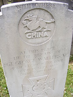 George Walters VC's grave 1