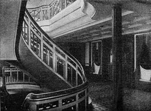SS George Washington - Staircase, 1909