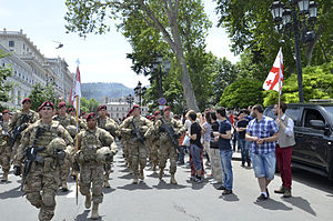 2015 in Georgia (country) - The U.S. paratroopers take part in Georgia's Independence Day celebrations, on 26 May 2015, after conclusion of the joint U.S.-Georgia drills Noble Partner.
