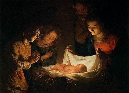 Gerard van Honthorst - Adoration of the Child - WGA11655