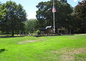 Greeley Park - A German howitzer from World War I is located in the park