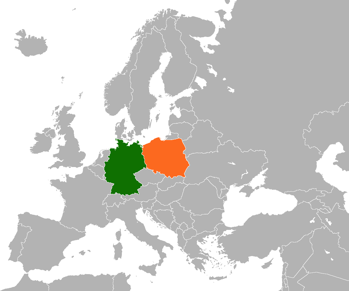 Map Of Germany 2000.Germany Poland Relations Wikipedia