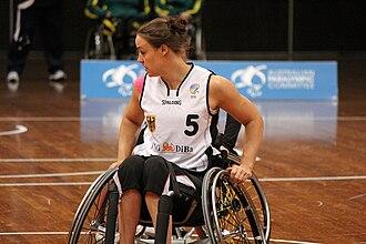 Johanna Welin - Image: Germany vs Japan women's wheelchair basketball team at the Sports Centre(IMG 3470)