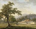 Gezicht op het huis van de resident, de heer J. Ph. van Zuylen van Nyevelt, te Banyuwangi (Oost-Java) Rijksmuseum SK-A-3452.jpeg