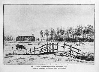 Feijenoord district - Image: Gezicht op het pesthuis op Feijenoord 1804 Gemeente archief Rotterdam 20191060 RCE