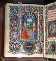 Gherardo e monte di giovanni, libro d'ore, marzo (annunciazione), firenze 1475-1500 ca. 02.JPG