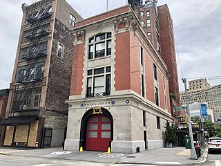 """Firehouse, Hook & Ladder Company 8 Fire station in New York City, """"Ghostbusters"""" HQ"""