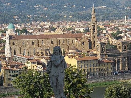 Giardino Bardini, vista su Firenze e Santa Croce