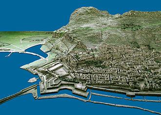 Charles Warren - A sample photograph showing how the Gibraltar model, on display at the Gibraltar Museum, includes every house and roadway.