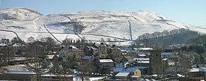 Giggleswick - Image: Giggleswick Village in snow