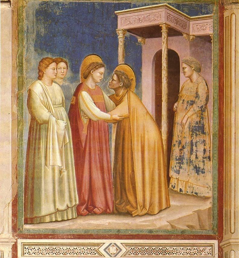 Giotto - Scrovegni - -16- - Visitation