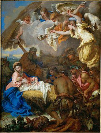 Giovanni Benedetto Castiglione -  Giovanni Benedetto Castiglione - The Adoration of the Shepherds