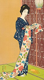 Girl in Summer Costume by Hashiguchi Goyō.jpg