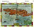 Girolamo Ruscelli. Cuba, Jamaica and Hispaniola. 1562.jpg