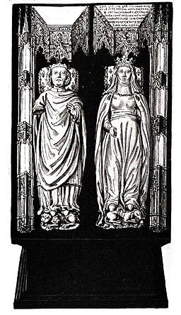 Gisants de Charles VII et Marie d'Anjou