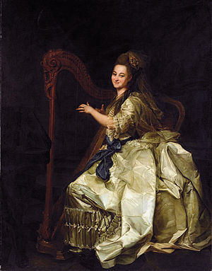 Glafira Alymova - Glafira Alymova playing the harp (after Dimitri Levicki)