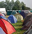 Glastonbury Festival - small campsite near pedestrian gate 'B' - geograph.org.uk - 1388966.jpg