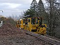 Glenfinnan railway station, Engine of Network rail.jpg