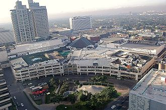 Ayala Center - Aerial view of Glorietta in Ayala Center
