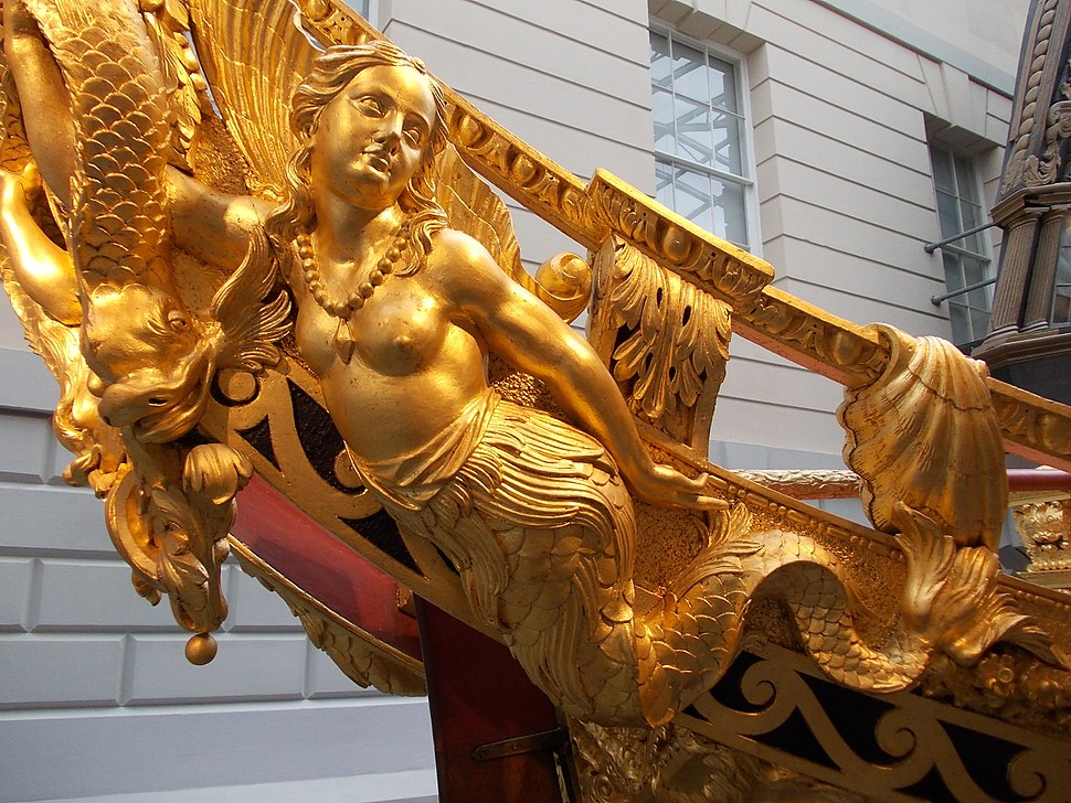 Golden Mermaid on Prince Frederick's Barge 1732