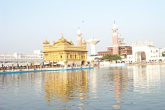 Outline of Sikhism - The Harmandir Sahib, Sikh Gurdwara and spiritual centre at Amritsar, India.