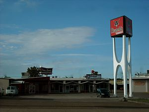 Glasgow, Montana - Googie architecture in Glasgow, June 2012