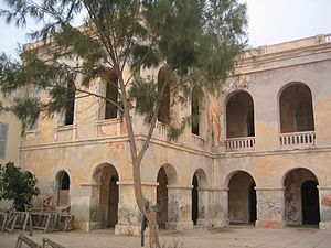 French West Africa - The former Governor's palace on Gorée Island, Dakar, Senegal