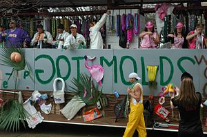 Spanish Town Parade, Mardi Gras in Baton Rouge...