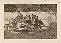Goya - El esforzado Rendon picando un toro, de cuya suerte murio en plaza de Madrid.jpg