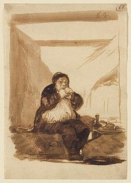 Goya - Glutton Eating by Himself, 1964.7, c. 1812–1823