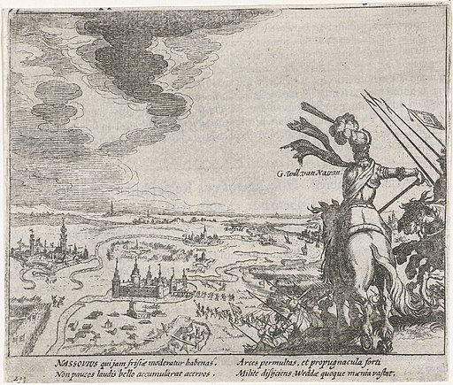 Graaf Willem Lodewijk van Nassau verovert Huis-te-Wedde, 1593, RP-P-OB-80.152