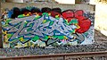 Graffiti along the Amtrak tracks, under the I-87 overpass - panoramio.jpg