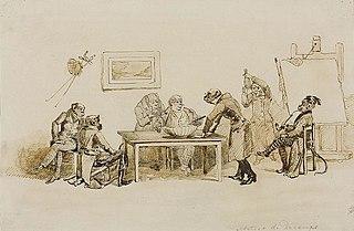 Małpy w pracowni malarskiej