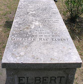 Samuel Elbert - Grave of Samuel Elbert in Colonial Cemetery in Savannah, Georgia