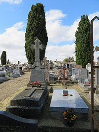 Graves of Michel Foucault, his mother and his father in Vendeuvre du Poitou.jpg
