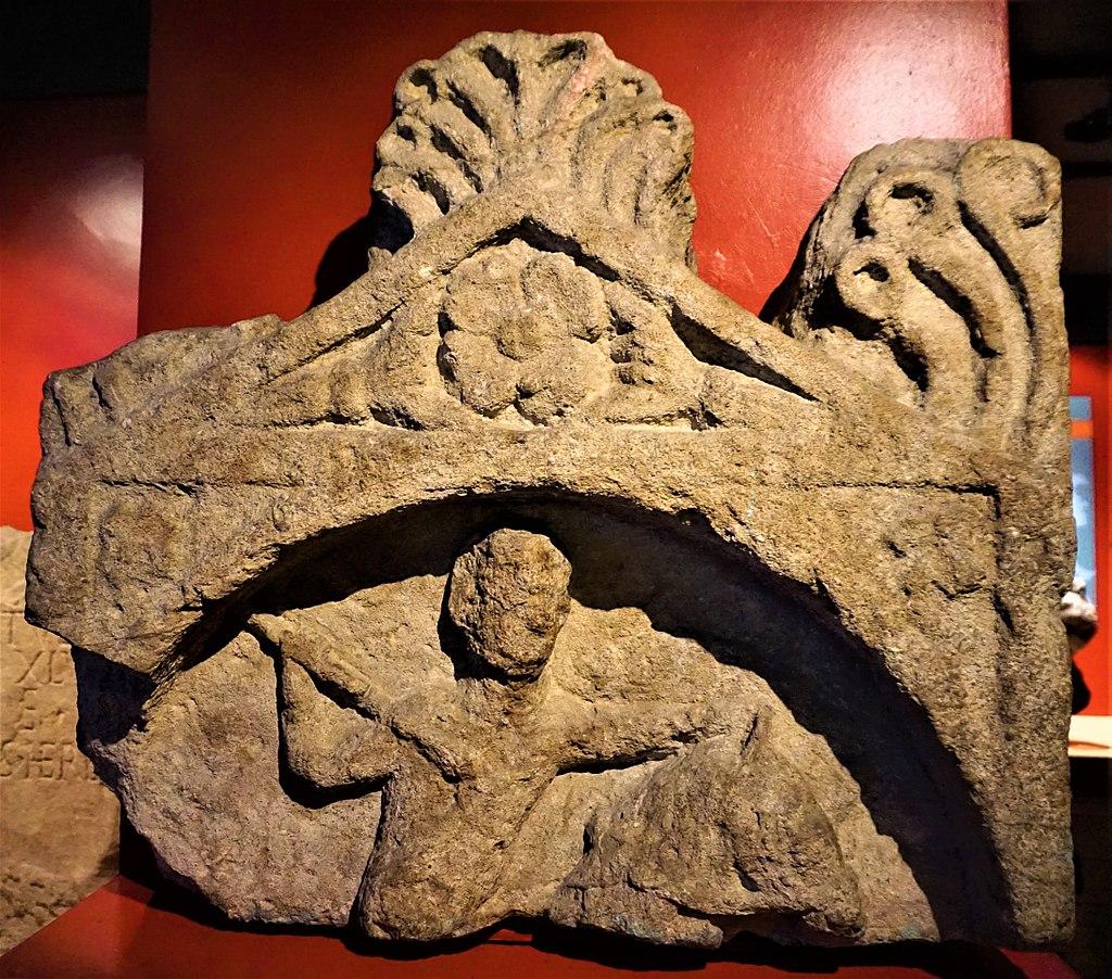 Gravestone of a Cavalryman - www.joyofmuseums.com - Roman Baths (Bath)