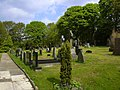 Graveyard, The Parish Church of St John the Evangelist, Higham - geograph.org.uk - 1856998.jpg