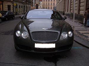 A Bentley Continental GT in Prague, Czech Repu...