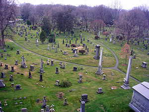 Green-Wood Cemetery - Vista from the Hillside Mausoleum