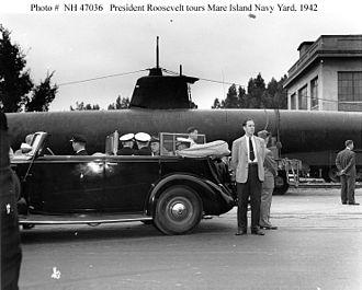 HA. 19 (Japanese Midget Submarine) - HA. 19 on war bond tour at Mare Island Navy Yard, 1942