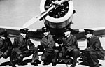 Greenville Army Airfield - Flight Cadets pose in front of BT-13.jpg